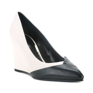 BRAND NEW Lanvin black/white Wedge Pumps 39/8.5